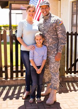 military family 2 with daughter