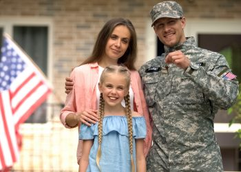 military family with daughter
